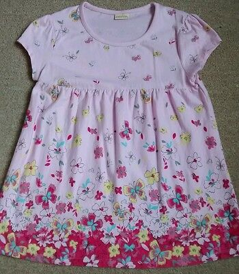 Girls pink flowery top age 11-12