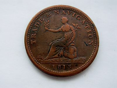 1813 Trade and Navigation One Penny Token - BR 962