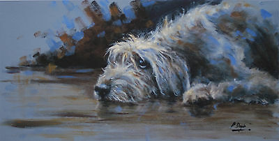 DEERHOUND SCOTTISH DOG FINE ART LIMITED EDITION PRINT - by Paul Doyle