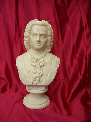 """Composer Bust  """"bach """" Good Likeness Some Air Holes Under Jaw"""