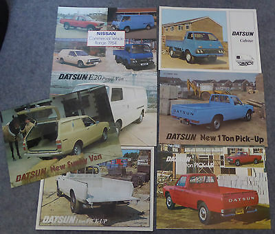 1980's COLLECTION 7 NISSAN COMMERCIAL BROCHURES - SUNNY PICK-UP CABSTAR     N235