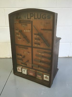 """Fine Shop Display Cabinet And Drawers. """"Rawlplugs"""" Open To Offers."""