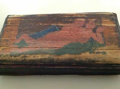 Beautiful old Kamasutra fold out hand painted book