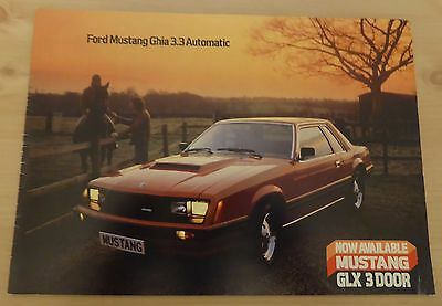1980's FORD US MUSTANG GHIA 3.3 AUTOMATIC BROCHURE                          O125