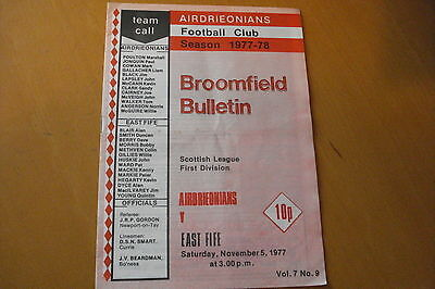 Airdrieonians (Airdrie) V East Fife                                      5/11/77