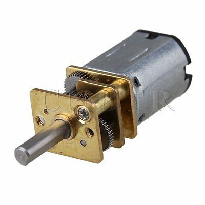 1.2cm GA12-N20 Metal 400RPM Mini DC12v Gear Electric Motor Gearwheel Silver