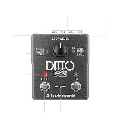 TC Electronic Ditto Looper X2 w/ FX Effects Guitar Pedal  - Ships FREE U.S.