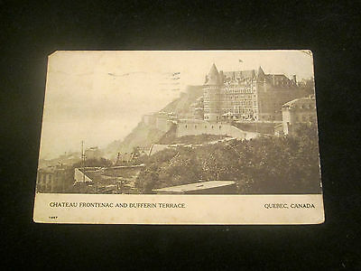 Chateau Frontenac and Dufferin Terrace    Quebec   Postcard