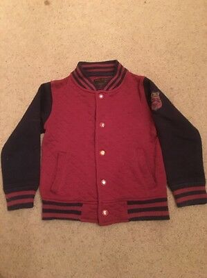 Soul & Glory Boys Baseball Jacket Age 3-4 Years Burgundy & Navy