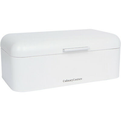 White Bread Box Powder Coated Stainless Steel Extra Large Bin for Loaves Storage