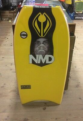 "NMD 44"" United PE core Bodyboard / HD slick / traxion contour/ red yellow"