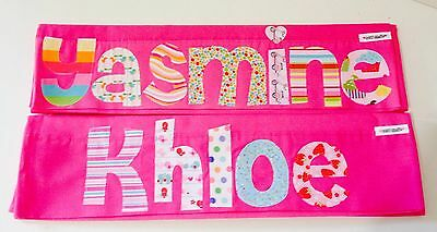 Personalised Children's Appliqued Pillowcase Hot Pink
