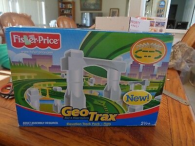 Fisher Price Geo Trax Elevation Track Pack Flats  NEW IN BOX