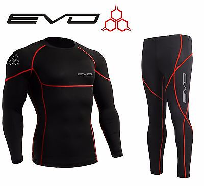 Evo Active Mens Compression Base Layer Armour Top Skin Leggings