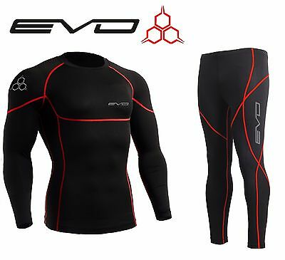 Evo Active Mens Cycling Jogging Compression Base Layer Armour Top Skin Leggings