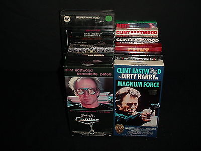 Lot of 12 Clint Eastwood Action Westerns Video Tape VHS Movies Videos