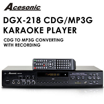 Acesonic DGX-218 CDG DVD Karaoke Player with MP3G Ripping and Recording