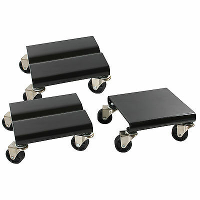 New Sportsman Series 3 Pc Set 1500 Lbs Steel Snowmobile Dolly Set Moving Storage