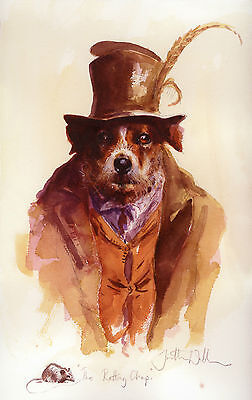 """JACK RUSSELL TERRIER DOG FINE ART LIMITED EDITION PRINT """"The Ratting Chap"""""""