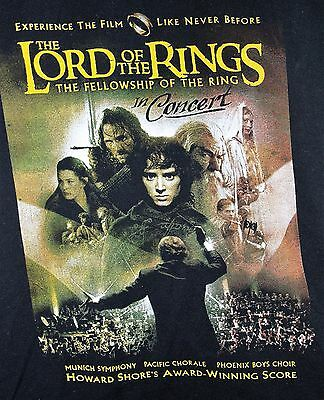 LOTR the Fellowship of the Ring in Concert T-shirt Black Large