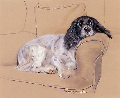 "ENGLISH SPRINGER SPANIEL DOG FINE ART LIMITED EDITION PRINT  ""Sunday Afternoon"""