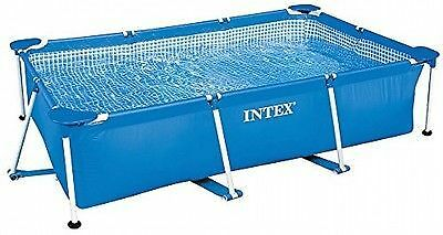 Intex 2.6m x 1.6m x 0.65m Rectangle Family Frame Swimming Pool - 3-ply material