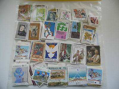 Australia Used, Unfranked Mixed Denomination Stamps FV $ 60.80