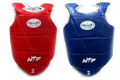 Morgan Olympic REVERSIBLE  BODY CHEST GUARD Red Blue Reversible
