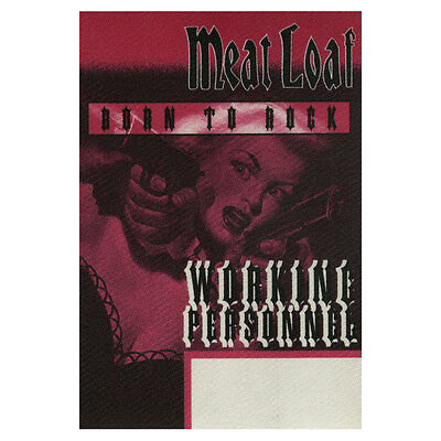 Meat Loaf authentic Working 1996 tour Backstage Pass