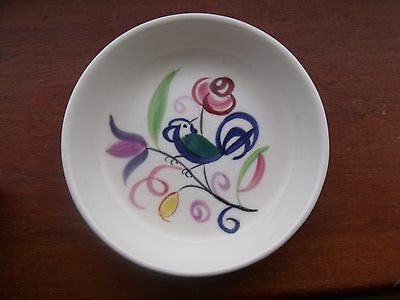 Beautiful little pin dish from POOLE POTTERY in colourful parrot design