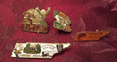 Lot of Tennessee Jaycees JCI Senate Collectible Enamel Pins Fraternal Pins