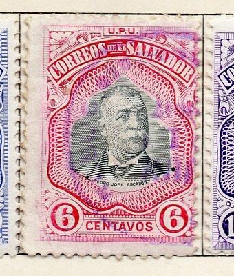 El Salvador 1906 Early Issue Fine Used 6c. 120981