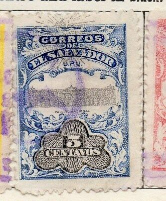 El Salvador 1907 Early Issue Fine Used 5c. Optd 120996