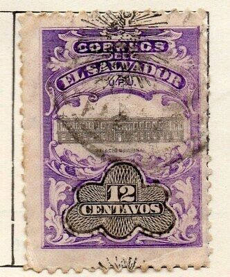 El Salvador 1907 Early Issue Fine Used 12c. Optd 120998