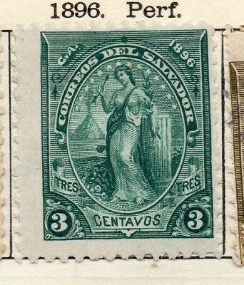 El Salvador 1896 Early Issue Fine Mint Hinged 3c. 121012