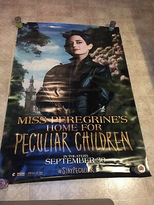 Miss Peregrine's Home for Peculiar Children 4'x 6' RARE Bus Shelter movie poster