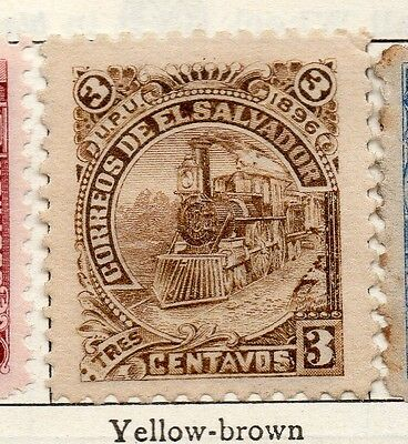 El Salvador 1896 Early Issue Fine Mint Hinged 3c. 121022