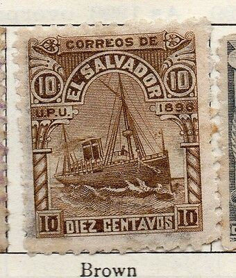 El Salvador 1896 Early Issue Fine Mint Hinged 10c. 121024