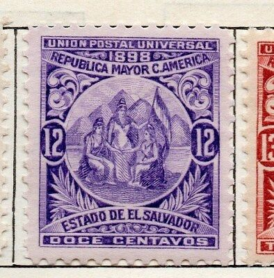El Salvador 1898 Early Issue Fine Mint Hinged 12c. 121052