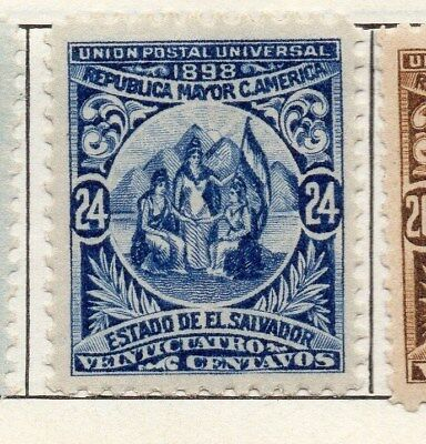 El Salvador 1898 Early Issue Fine Mint Hinged 24c. 121055