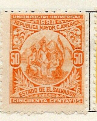 El Salvador 1898 Early Issue Fine Mint Hinged 50c. 121057