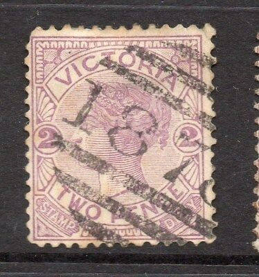 Victoria 1890s Numeral Postmark Issue Fine Used 2d. 121263