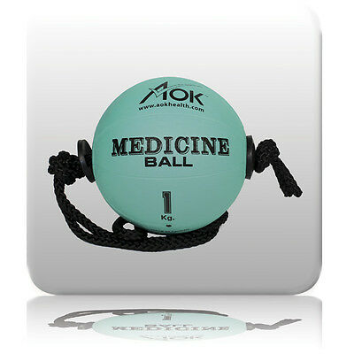 Rope Medicine Strength Power Ball Workout Cyclone Fitness Exercise Core AOK 1kg