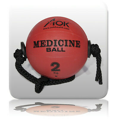 Rope Medicine Strength Power Ball Workout Cyclone Fitness Exercise Core AOK 2kg