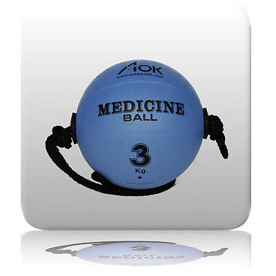 Rope Medicine Strength Power Ball Workout Cyclone Fitness Exercise Core AOK 3kg