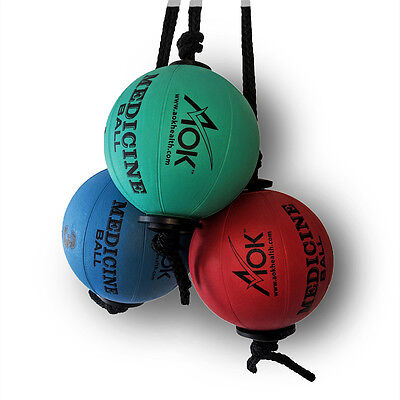 Rope Medicine Strength Power Ball Workout Cyclone Fitness Exercise Core AOK KIT