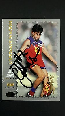 signed Select Chris Johnson Fitzroy  card