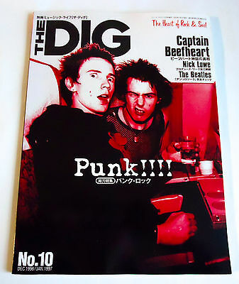 PUNK THE DIG Japan Magazine 1996 No.10 Sex Pistols Damned Clash Ramones Nick Low