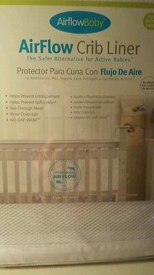 AirFlow Baby Crib White Mesh Liner NEW In Unopened Package