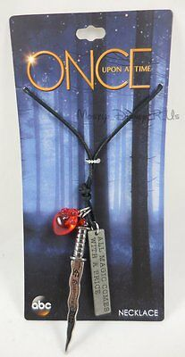 New Disney ABC Once Upon A Time Rumplestiltskin Rumple Dagger Pendant Necklace